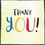Thank you card sent by Debbie Reed to thank Les Blackman for his services